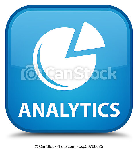 Analytics (graph icon) special cyan blue square button - csp50788625