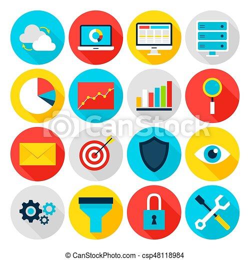 analytics, plat, zakenbeelden - csp48118984