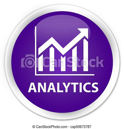 Analytics (statistics icon) premium purple round button - csp50673787
