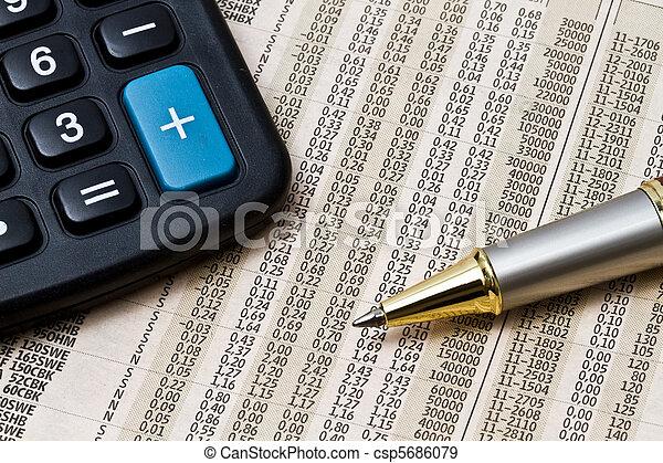 analyzing, markt, liggen - csp5686079