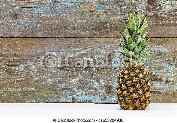 weißes, ananas, sonnenbrille, freigestellt, reif