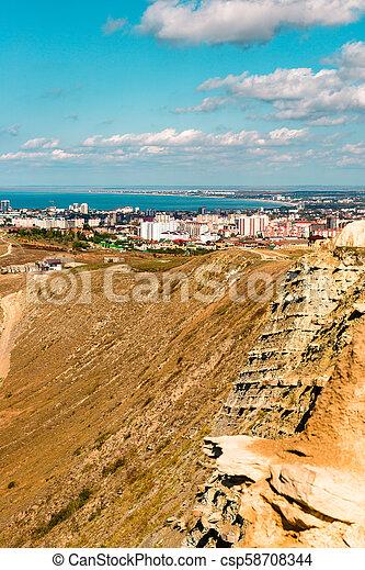 Anapa, view of the city, black sea, mountains, Krasnodar region, resort - csp58708344