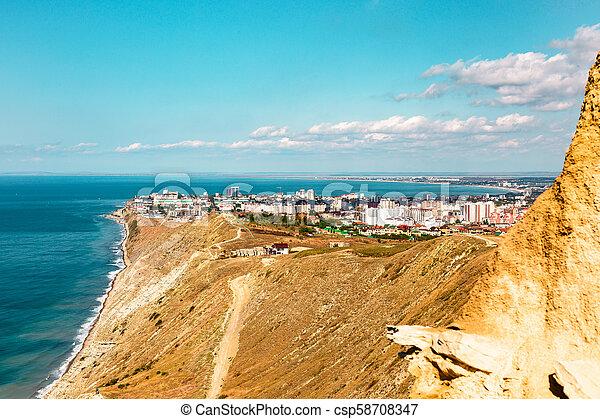 Anapa, view of the city, black sea, mountains, Krasnodar region, resort - csp58708347