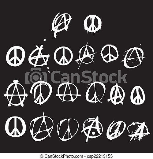 Anarchy And Peace Symbol Logo Isolated