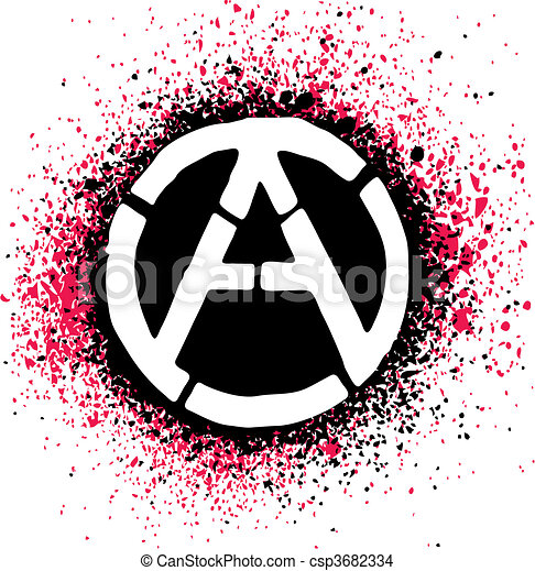 Anarchy Symbol Icon Vector Illustration