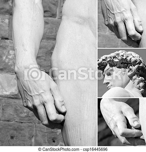 Anatomía de David Collage, Florencia, Italia - csp16445696