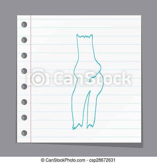 Anatomía de rodilla - csp28672631