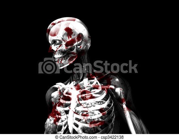 Anatomía, sangre. Médico, vista, o, mujeres, x, cubierto, concepts ...