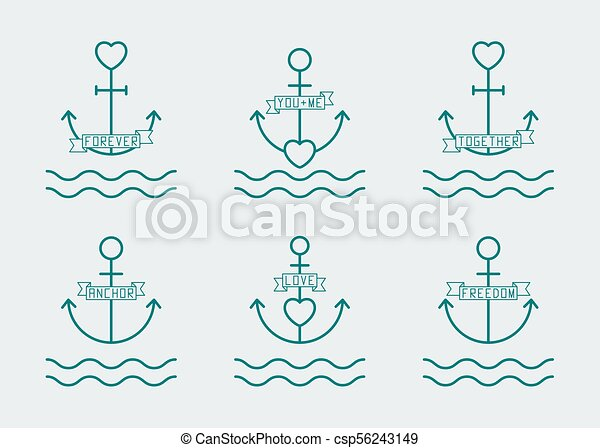 Anchor With Heart Drawing