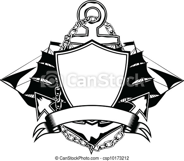 anchor and ship - csp10173212
