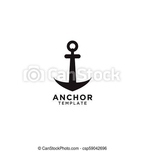 Anchor Template | Anchor Logo Design Template Illustration Of Anchor Logo Design