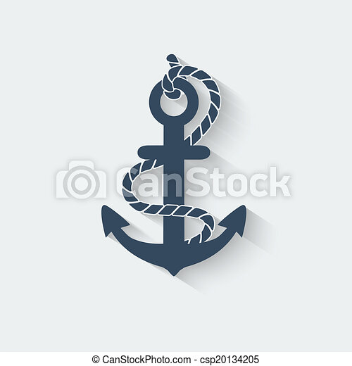 anchor nautical symbol - csp20134205