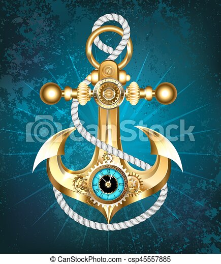 Anchor with clock - csp45557885