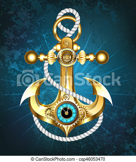 Anchor with clock - csp46053470