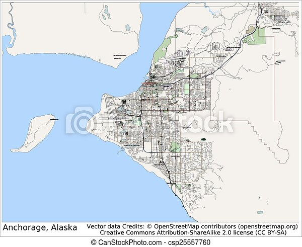 Anchorage alaska usa city map aerial view clip art vector search anchorage alaska usa city map aerial view gumiabroncs Gallery