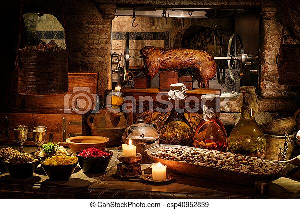 ancien moyen ge nourriture royal ch teau typique tabe cuisine ancien moyen ge. Black Bedroom Furniture Sets. Home Design Ideas