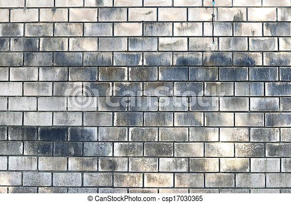 Ancien, mur, tache, brique, inondation, blanc image de stock ...