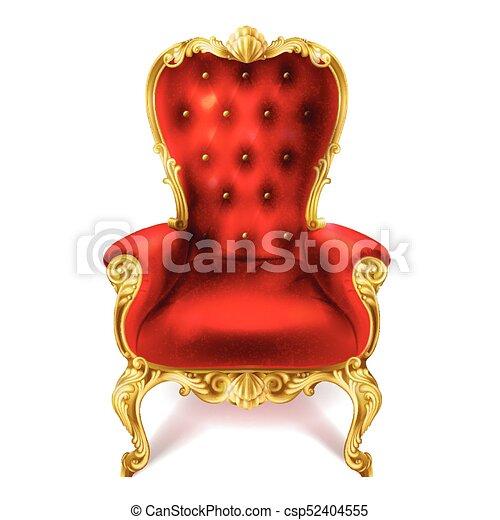 ancien, royal, illustration, vecteur, throne., rouges - csp52404555