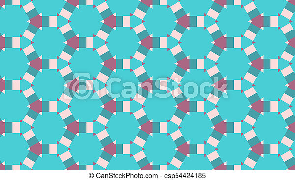 ancien, tissu, repeat., modèle, ornement, seamless, fond, ethnique, géométrique, style., mosaïque, print. - csp54424185
