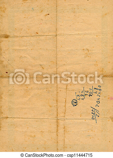 ancient aged paper with numbers background - csp11444715