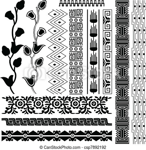 Ancient american pattern - csp7892192
