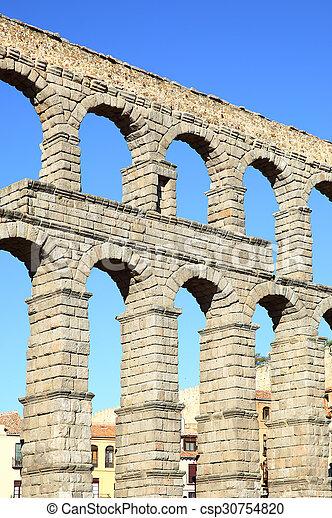 Ancient aqueduct - csp30754820