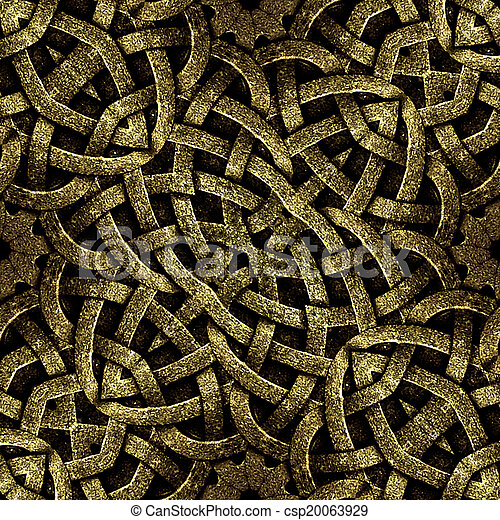 Ancient Arabesque Stone Ornament - csp20063929