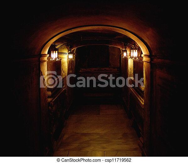 Ancient basement - csp11719562