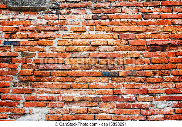Ancient brick wall background - csp15838291