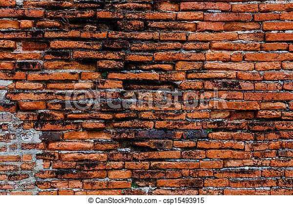 Ancient brick wall - csp15493915