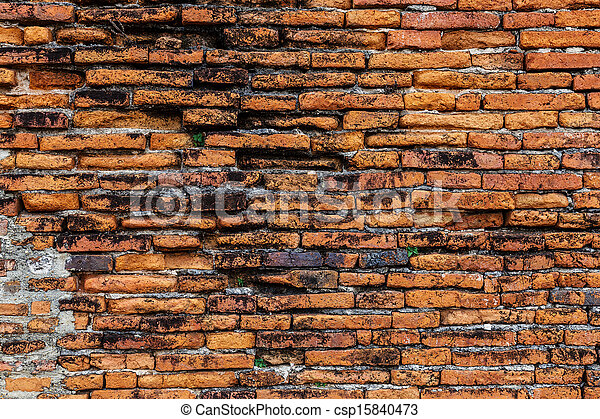Ancient brick wall - csp15840473