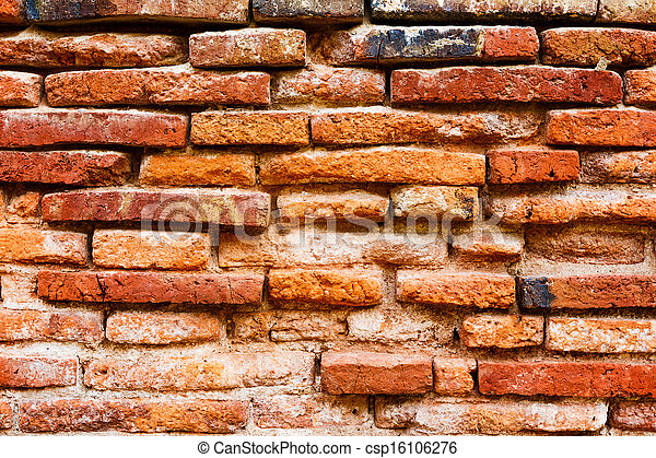 Ancient brick wall - csp16106276