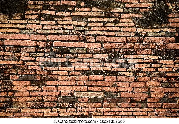 ancient brick wall  - csp21357586