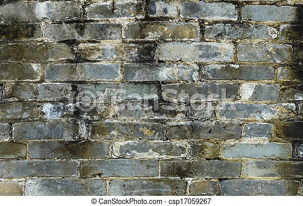 Ancient brick wall - csp17059267