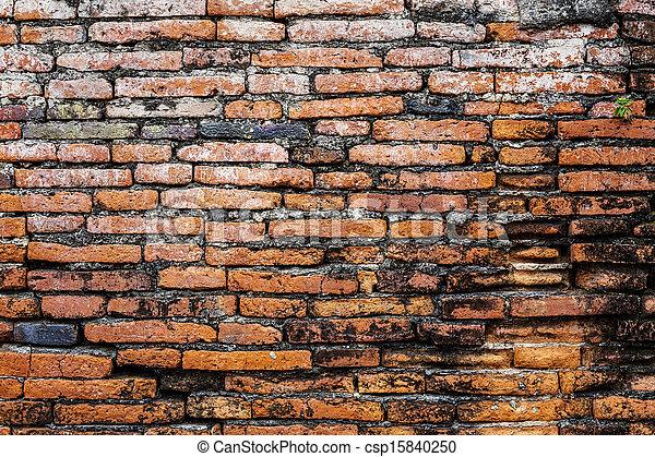 Ancient brick wall - csp15840250