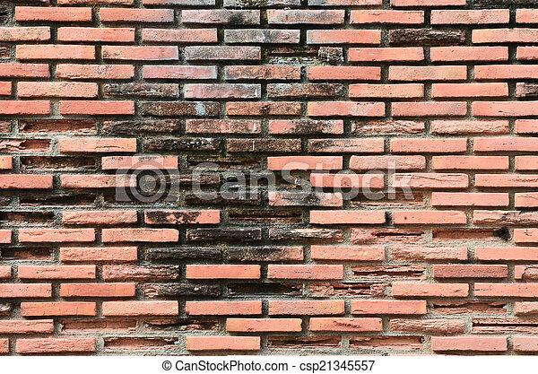 ancient brick wall  - csp21345557
