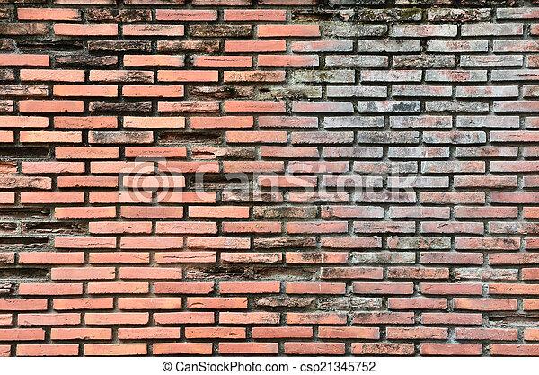ancient brick wall  - csp21345752