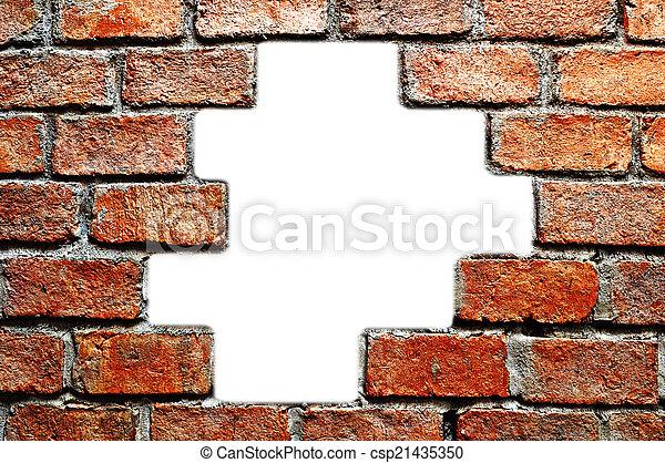 ancient brick wall - csp21435350