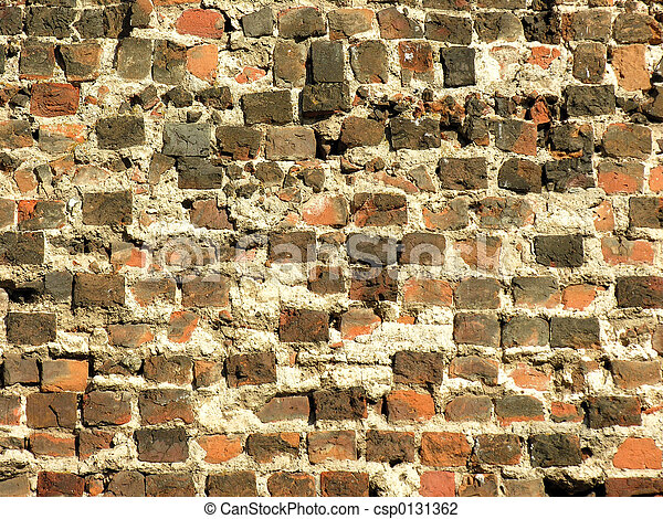 Ancient brick wall - csp0131362