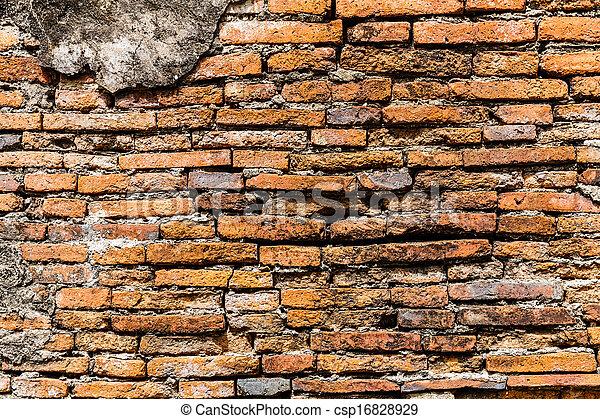Ancient brick wall - csp16828929