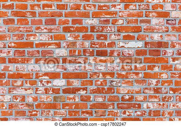 Ancient brick wall - csp17802247
