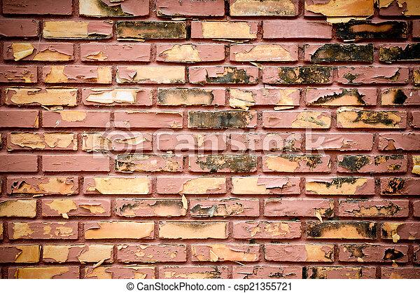 Ancient brick wall  - csp21355721