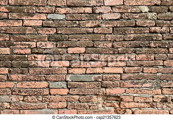 ancient brick wall  - csp21357623
