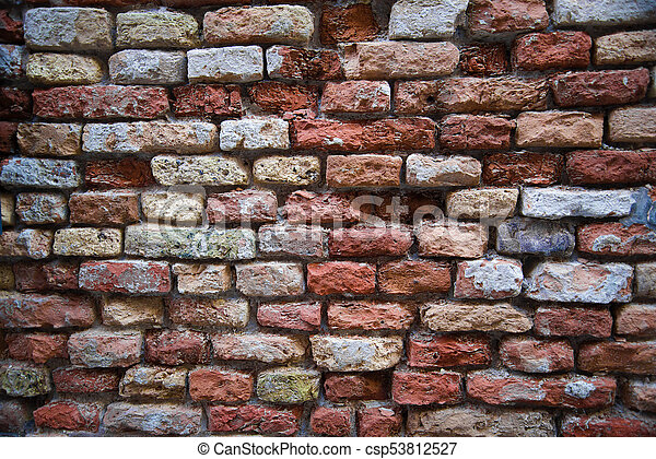Ancient brick wall - csp53812527