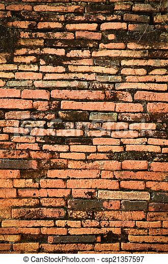 ancient brick wall  - csp21357597