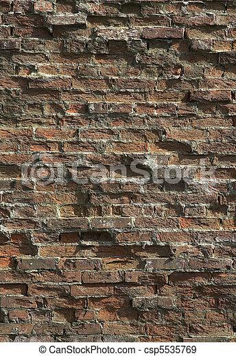 ancient brick wall - csp5535769