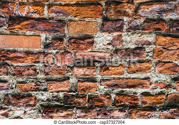 Ancient brick wall. - csp37327004