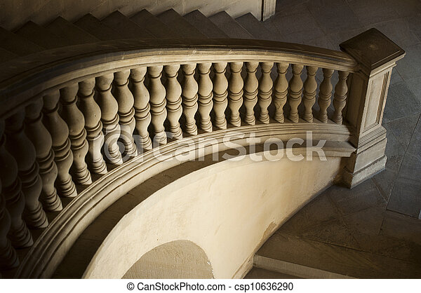 Ancient Castle curved stairs - csp10636290