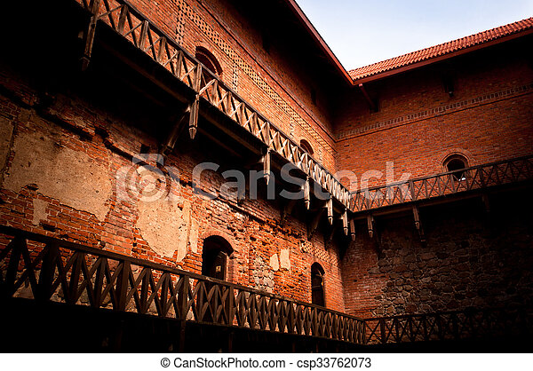 ancient castle interior csp33762073