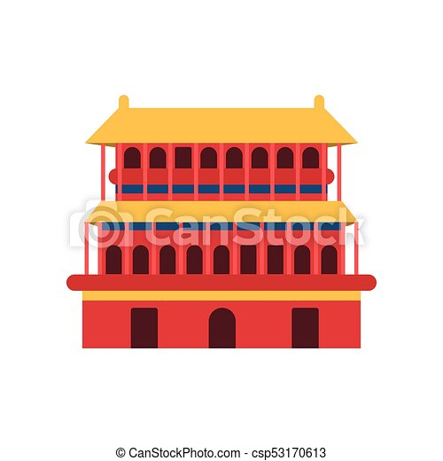 Ancient Chinese Architecture Icon Of Pagoda Temple Culture Symbol